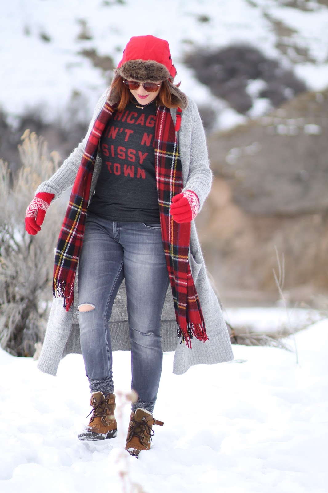 ski, look, outfit, winter, style, long, cardigan, sweater, free, people, santa, cruz