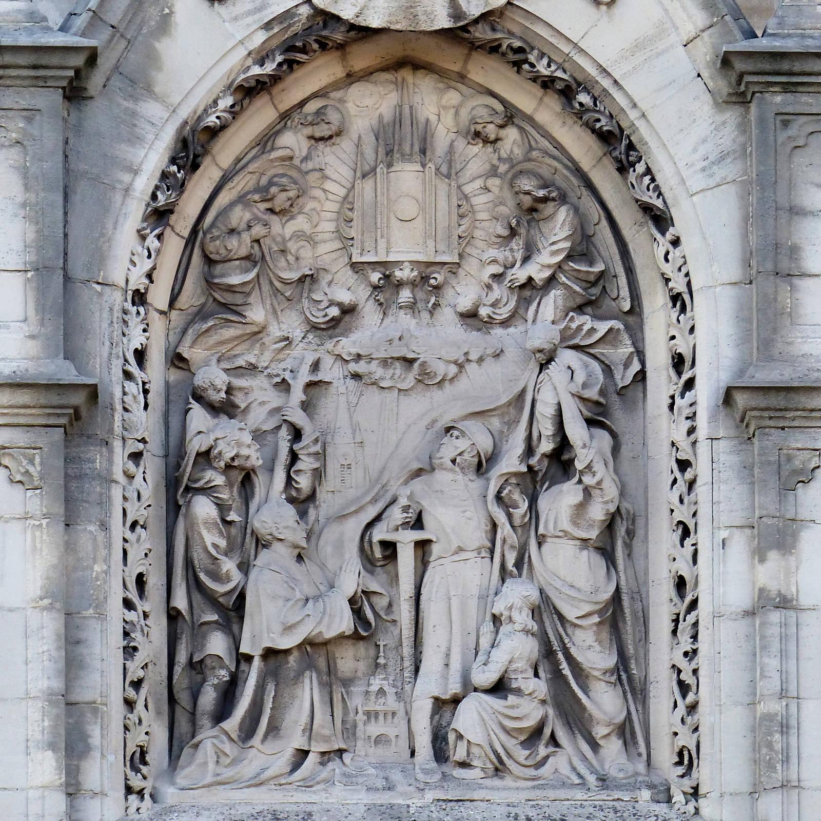 Chapelle du Voeu, Tourcoing - Bas-relief de Jules Clamagirand