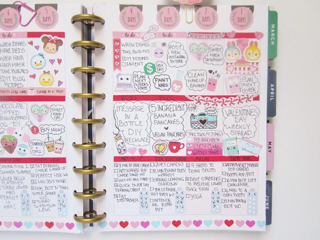 Valentine's Day Planner Spread