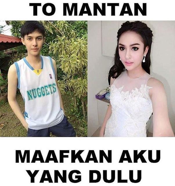 Meme Dear Mantan ganteng ganteng cantik