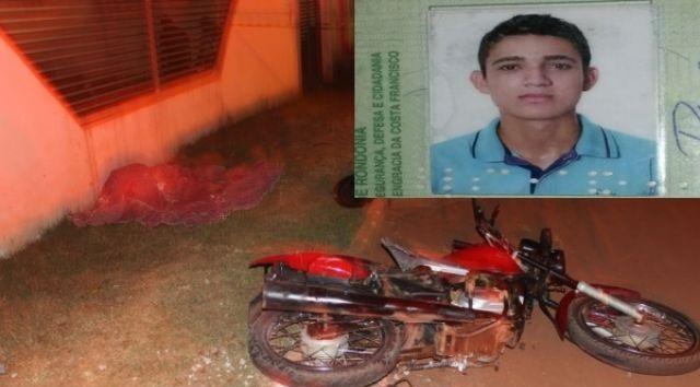 MENOR DE 17 ANOS MORRE EM ACIDENTE ENTRE MOTO E CAMINHONETE, EM ROLIM DE MOURA