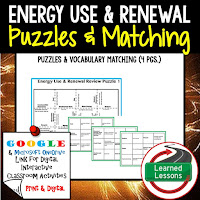 Energy Use and Environment, Compounds, Reactions, Physical Science Puzzles, Physical Science Digital Puzzles, Physical Science Google Classroom, Vocabulary, Test Prep, Unit Review