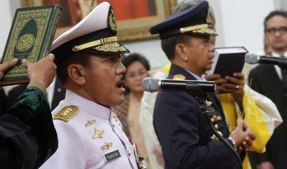 Presiden Lantik KSAL dan KSAU baru