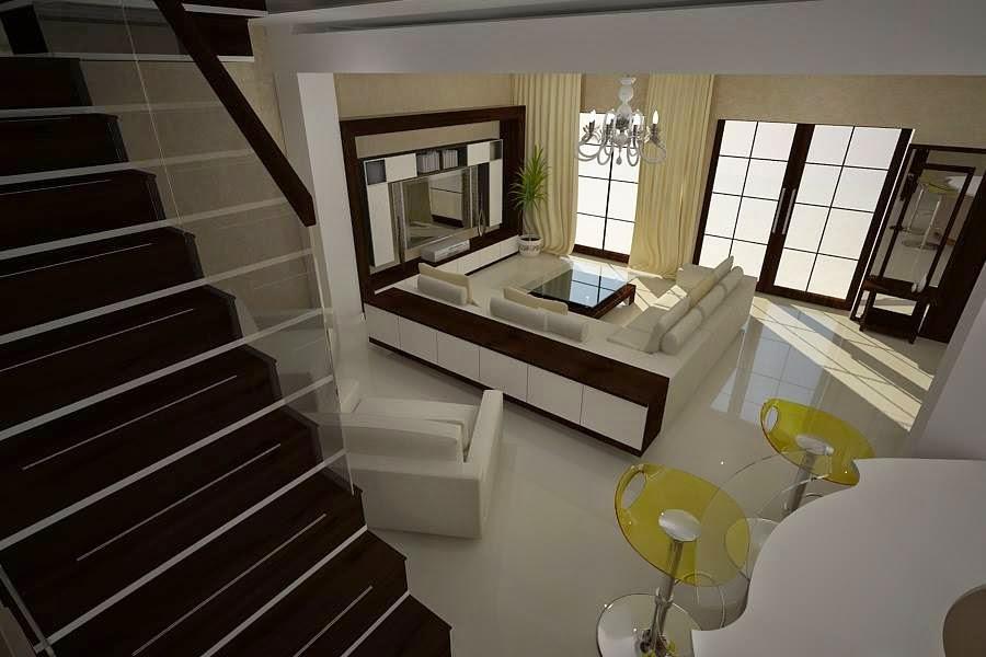 Design interior living vila moderna Constanta - Arhitect designer interior