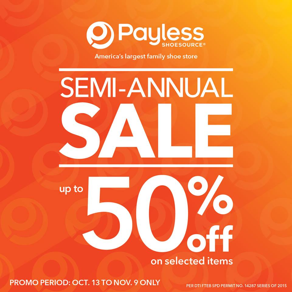 Wholesale Jewelry Expo Manila Shopper Payless Semi Annual Sale Oct Nov 2015