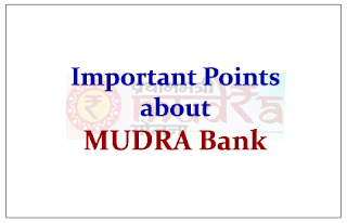 Important Points about MUDRA Bank