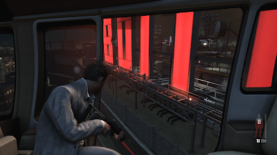 Gameplay of a static shooting scene in Max Payne 3