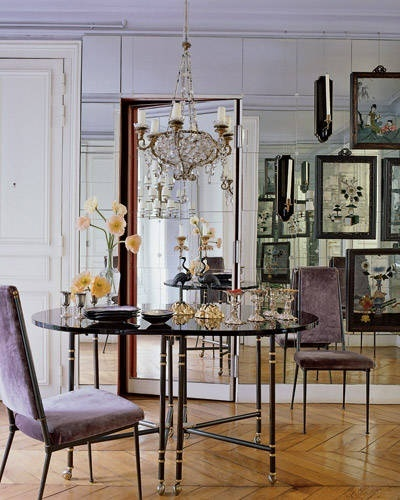 Eye For Design Decorate With Mirrored Walls
