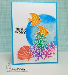Seas the Day Card by Diane Morales | Tranquil Tides Stamp Set  By Newtons Nook Designs