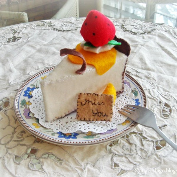 {DIY} Gourmet Felt Cheese Cake