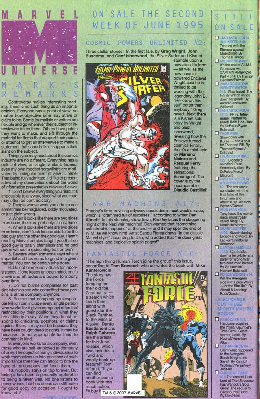 Read online Silver Surfer (1987) comic -  Issue #106 - 34