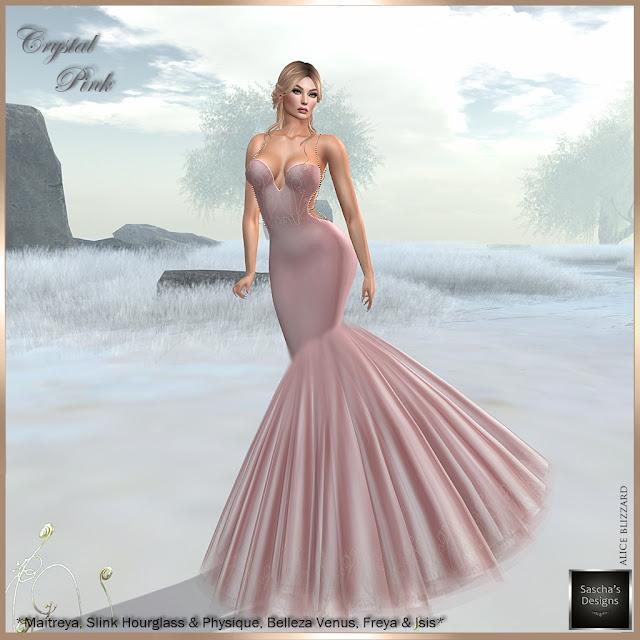 SASCHA'S DESIGNS - Cyrstal Gowns (Mesh Bodies)