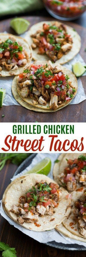 New Grilled Chicken Street Tacos