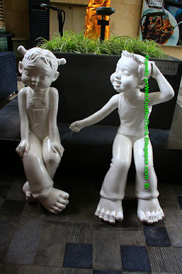 Sculptures, Lan Kwai Fong, Chengdu, Sichuan, China