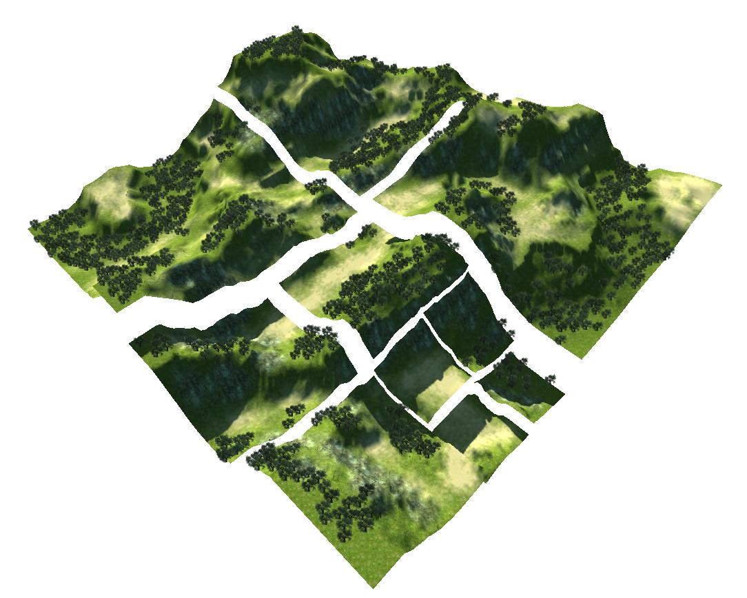 Kostiantyn Dvornik :: Ideas: Unity split terrain script