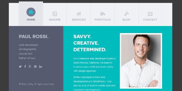 15+ Free and Premium HTML CV/Resume Templates - Webprecis