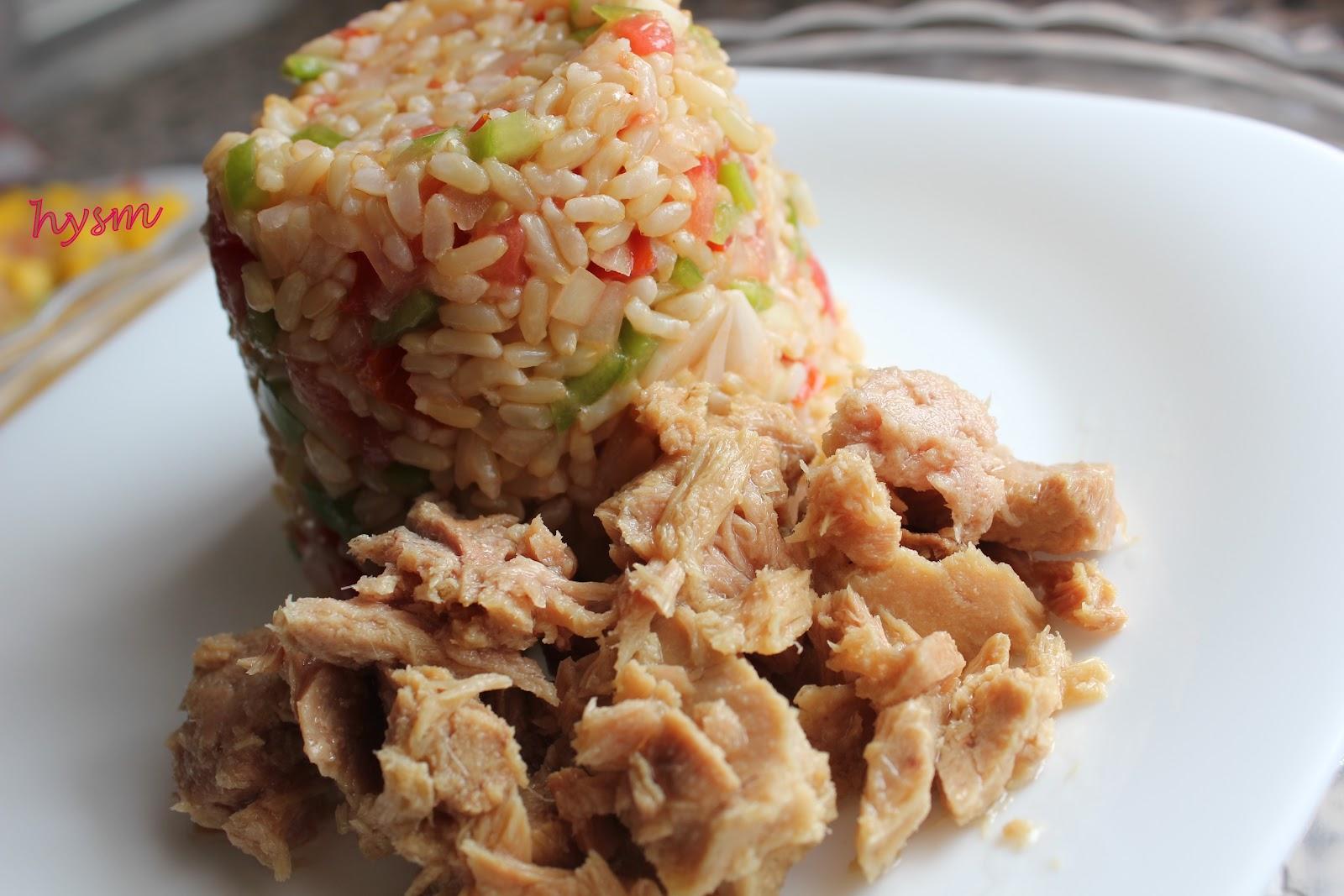 Recetas de arroz integral con atun