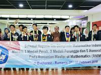 Indonesia Raih Prestasi Olimpiade Matematika Ajang Internasional : Romanian Master of Mathematics