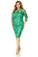 Rochie verde Plus Size Anemona • Miss Grey