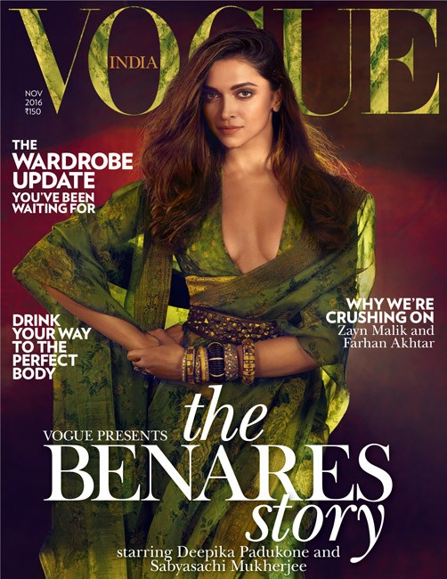 Deepika Padukone on Vogue India Magazine Cover November 2016 Issue 07