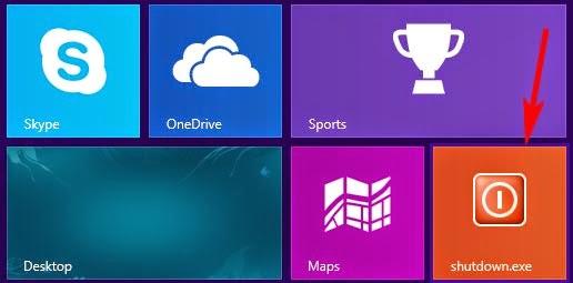 Add Quick Shutdown & Restart Button to windows 8