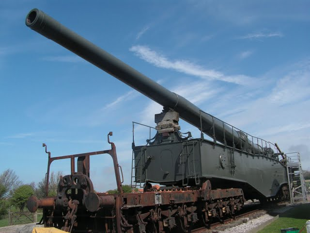 The Krupp K5 280mm railway gun at Musee Batterie Todt, Cap Gris Ne