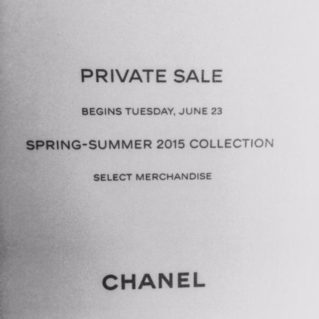 f751a54f214 The Chanel sale doesn't officially start until Tuesday, June 23. Presale  will be permitted in Chanel boutiques on Friday but many local department  stores ...