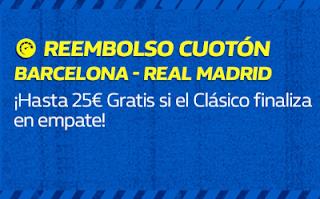 william hill Reembolso Cuotón Barcelona Real Madrid 28 octubre