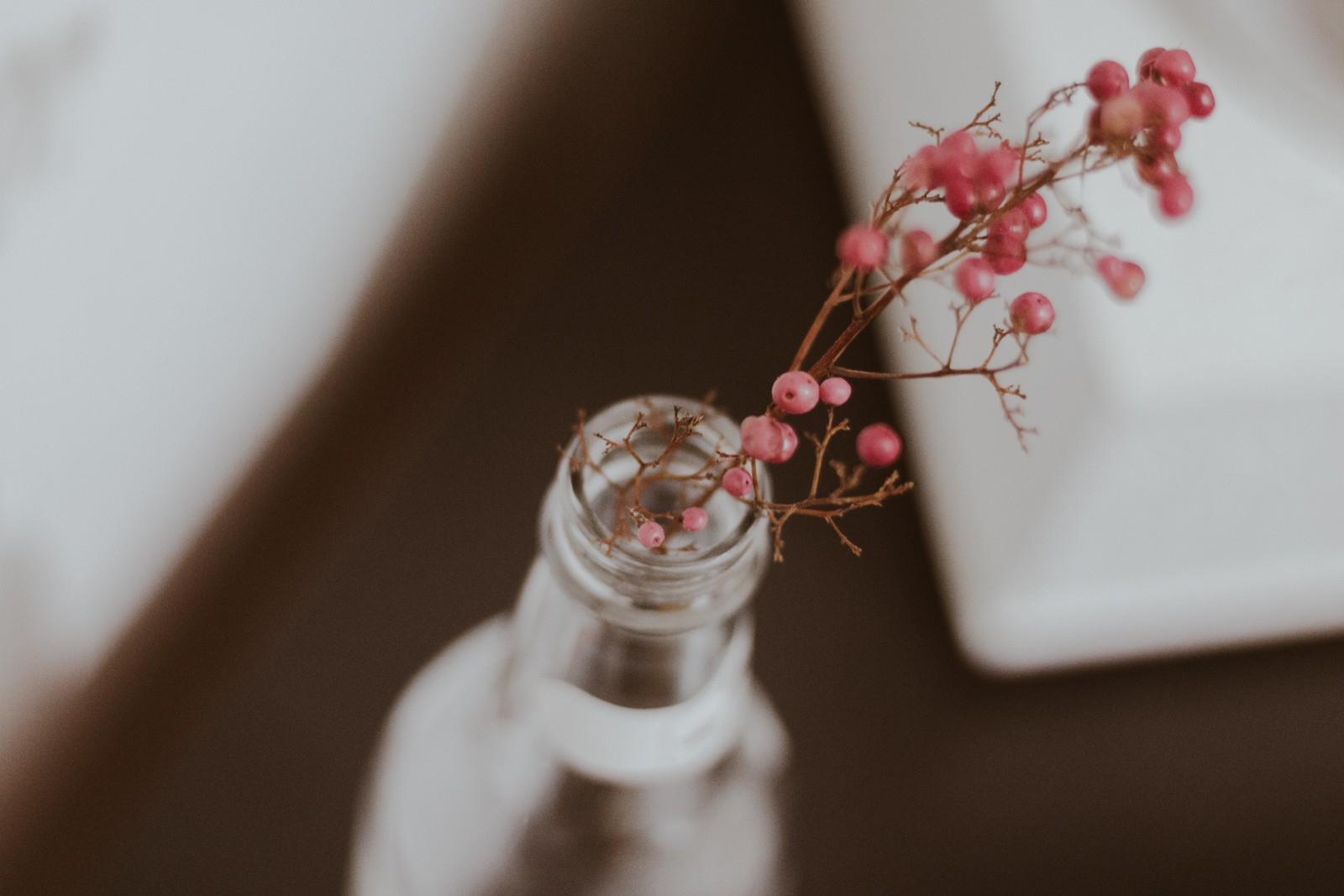 garrafa de vidro decorativa