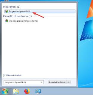 Programmi predefiniti su Winodws 7