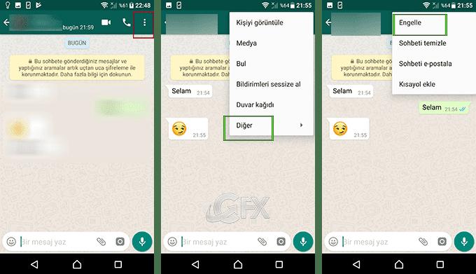 Whatsapp'da rehberdeki kişiler nasıl engellenir?