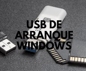 Crear USB de arranque Windows.