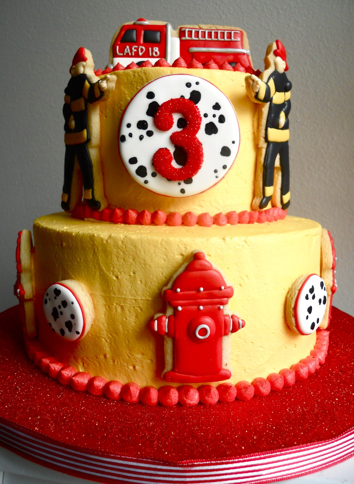 Oh Sugar Events Fireman Cake