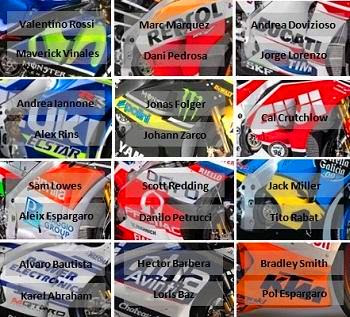 nama pembalap motogp 2017 lengkap dengan tim