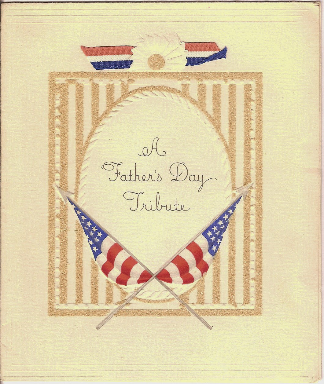 A Fathers Day Tribute card from seventy years ago