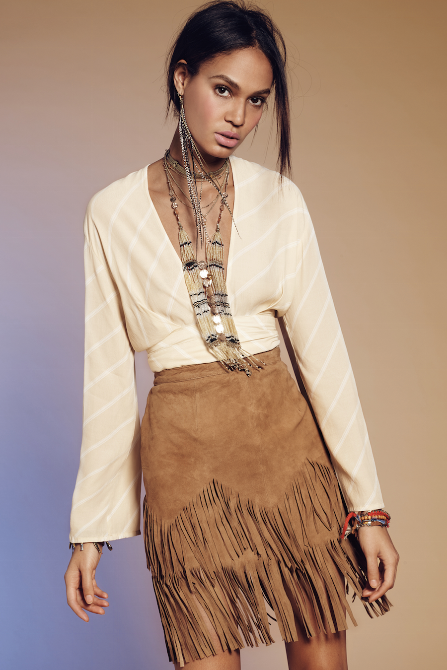 Free People Same Old Love Fringe Skirt