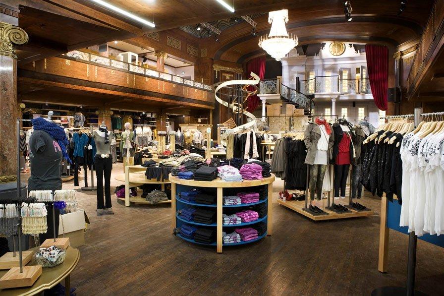 Urban clothes stores