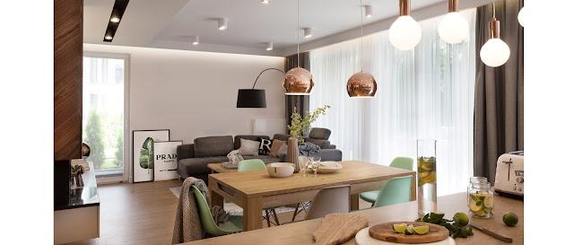 decoração-sala-de-estar- e-jantar-juntas