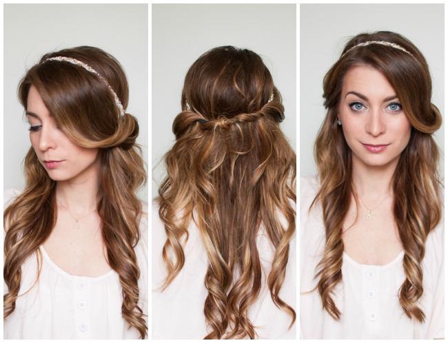 Brilliant Easy Half Up Half Down Hair Wrap Tutorial La Petite Noob A Short Hairstyles Gunalazisus
