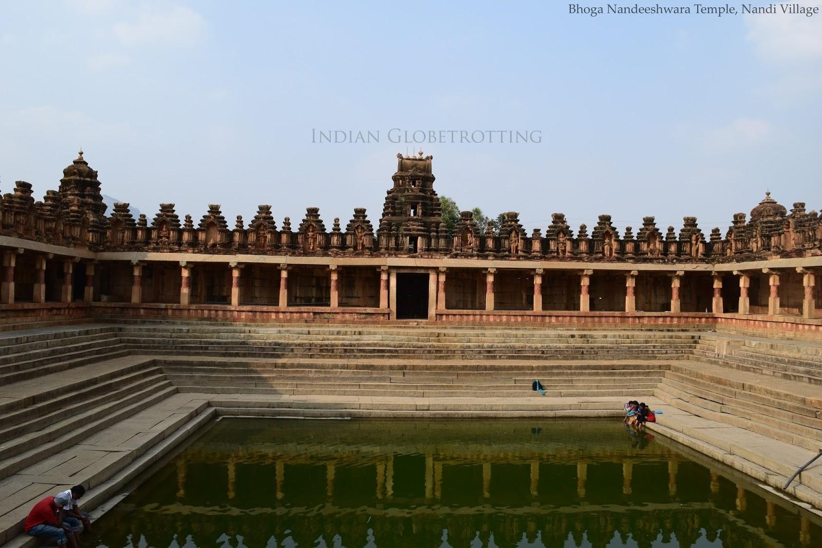 Pushkarani of Bhoga Nandeeshwara Temple in nandi village in karnataka