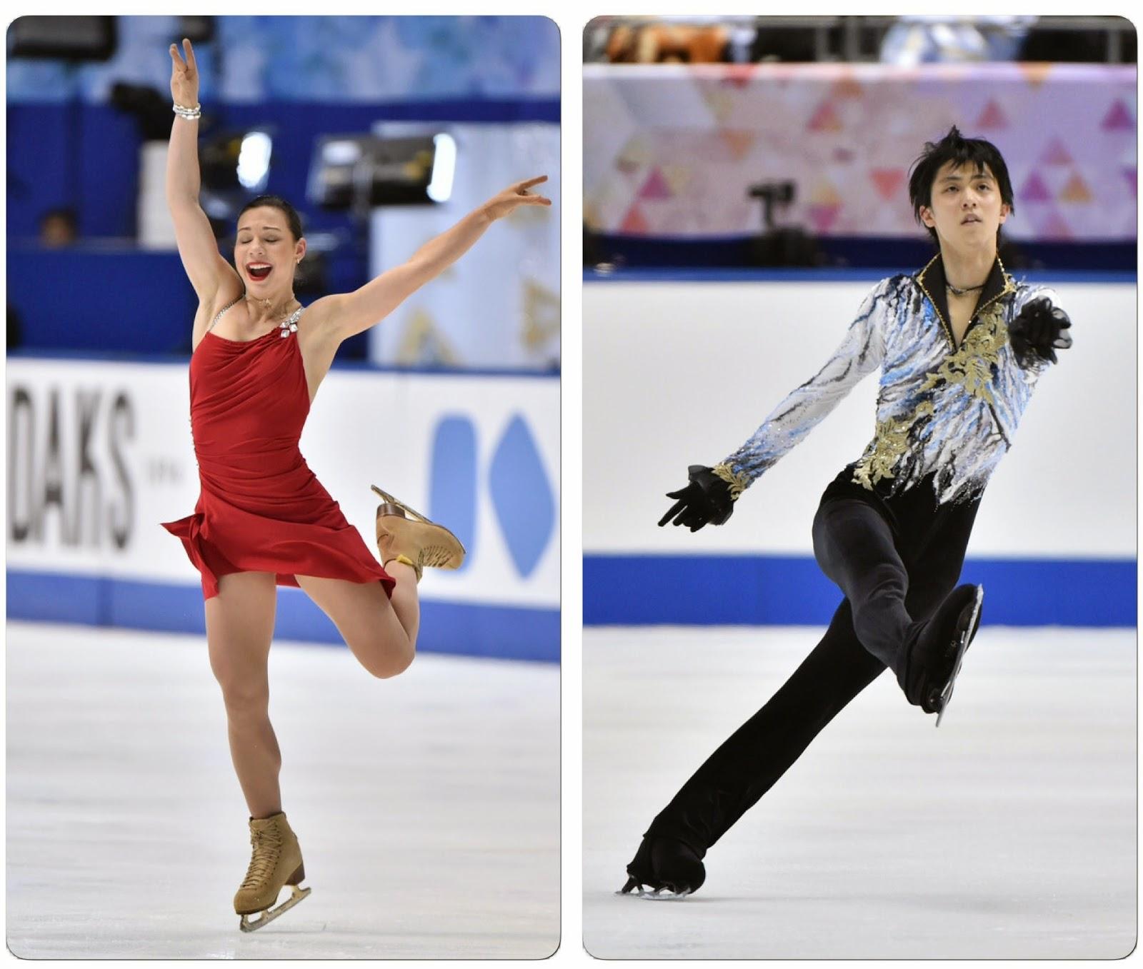 58a645728b Ice Style  (L to R) Alena Leonova of Russia and Yuzuru Hanyu of Japan both  in their Free Skate costumes--2014 NHK Trophy ISU Grand Prix of Figure  Skating