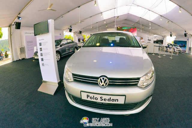 Recently launched Volkswagen Polo Sedan at 'Volkswagen On Tour' Road Show