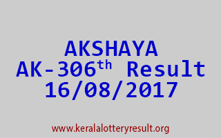 AKSHAYA Lottery AK 306 Results 16-8-2017