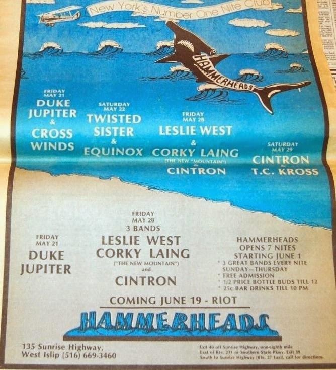 Hammerheads schedule flyer