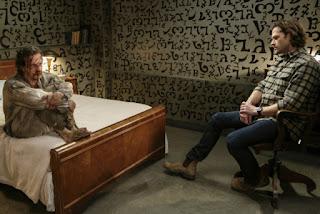 "Richard Speight Jr. as Gabriel and Jared Padalecki as Sam Winchester in Supernatural 13x18 ""Bring 'em Back Alive"""