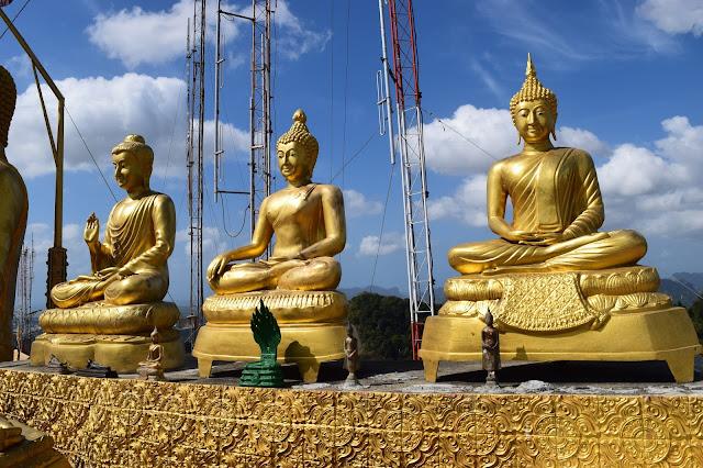 Golden Buddhas Krabi Thailand