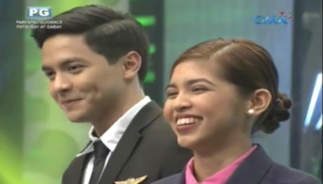 Alden Richards and Maine Mendoza in Eat Bulaga's Holy week special