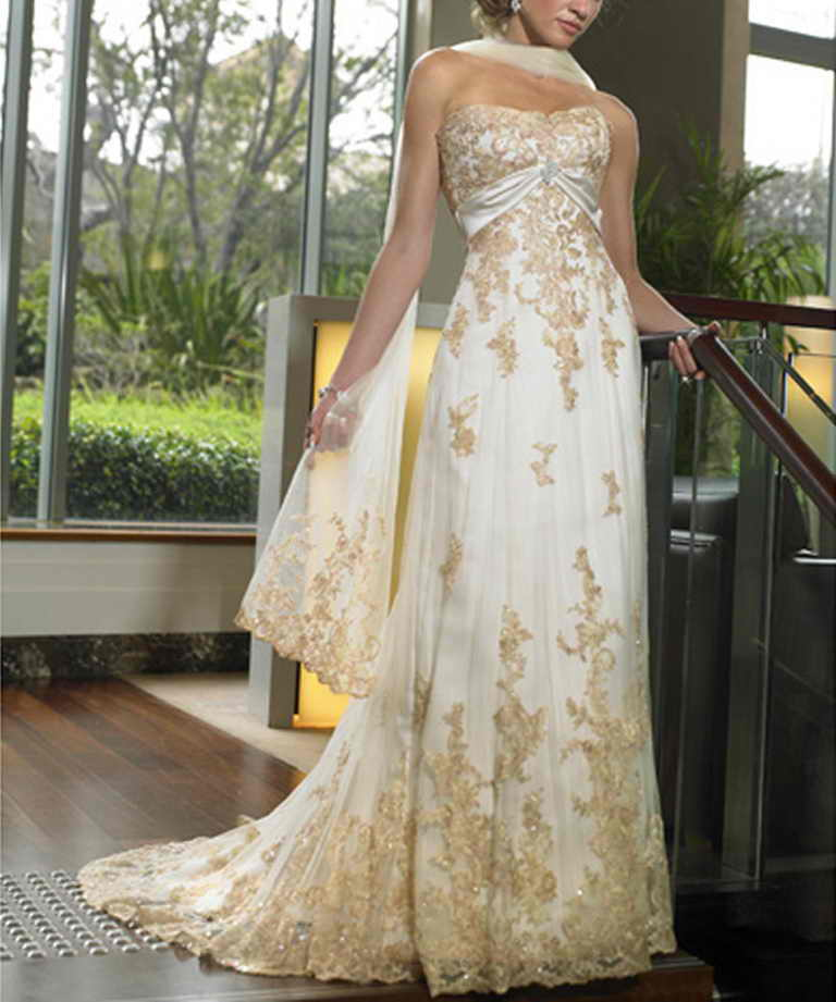 Wedding Dress White And Gold: Wedding Lady: Gold Bridal Gown Collection
