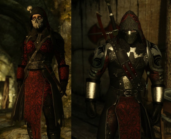 Sithis Armour and Blades [HDT Cloth] ~ Eskyrim