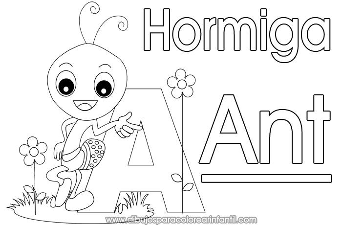 Español Dibujo Para Colorear: Dibujos Para Colorear Infantil: Alfabeto De Animales